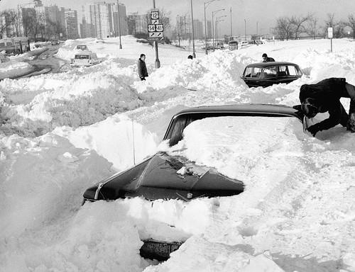 史上第三大暴风雪:袭击芝加哥地区(组图)